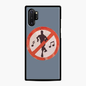 Dance Sign Fortnite Samsung Galaxy Note 10 Plus Case, Black Rubber Case