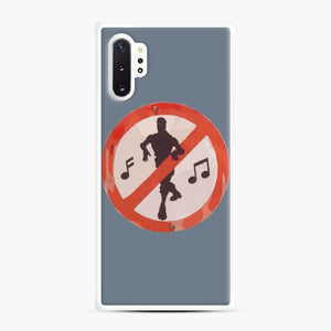 Dance Sign Fortnite Samsung Galaxy Note 10 Plus Case, White Rubber Case