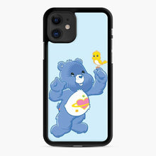 Load image into Gallery viewer, Daydream Bear Care Bear iPhone 11 Case, Black Rubber Case