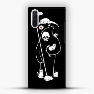Death Is A Cat Person Samsung Galaxy Note 10 Case, Snap Case | Webluence.com
