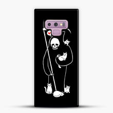 Load image into Gallery viewer, Death Is A Cat Person Samsung Galaxy Note 9 Case, Snap Case | Webluence.com