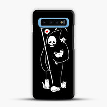 Load image into Gallery viewer, Death Is A Cat Person Samsung Galaxy S10 Case, Snap Case | Webluence.com