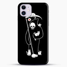Load image into Gallery viewer, Death Is A Cat Person iPhone 11 Case.jpg, Snap Case | Webluence.com