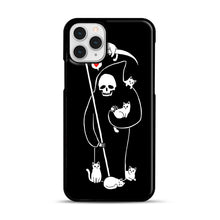 Load image into Gallery viewer, Death Is A Cat Person iPhone 11 Pro Case, Black Rubber Case | Webluence.com