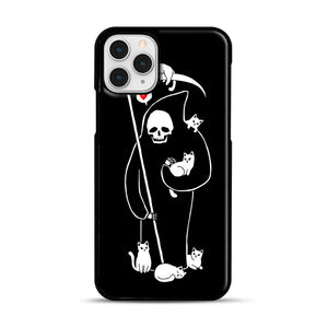 Death Is A Cat Person iPhone 11 Pro Case, Black Plastic Case | Webluence.com