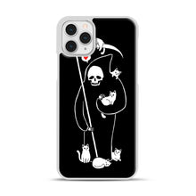 Load image into Gallery viewer, Death Is A Cat Person iPhone 11 Pro Case, White Plastic Case | Webluence.com