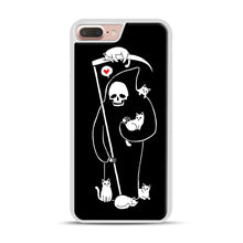 Load image into Gallery viewer, Death Is A Cat Person iPhone 7 Plus/8 Plus Case, White Rubber Case | Webluence.com