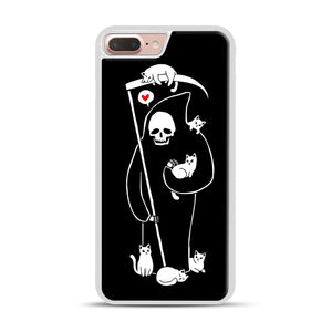 Death Is A Cat Person iPhone 7 Plus/8 Plus Case, White Rubber Case | Webluence.com