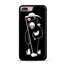 Load image into Gallery viewer, Death Is A Cat Person iPhone 7 Plus/8 Plus Case, Black Rubber Case | Webluence.com