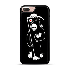 Death Is A Cat Person iPhone 7 Plus/8 Plus Case, Black Rubber Case | Webluence.com