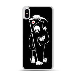 Death Is A Cat Person iPhone XS Max Case, White Rubber Case | Webluence.com