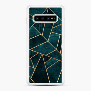 Deep Teal Stone Samsung Galaxy S10 Plus Case
