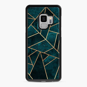 Deep Teal Stone Samsung Galaxy S9 Case