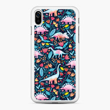 Load image into Gallery viewer, Dinosaur Delight And Flowers Watercolor Paleontologist iPhone XR Case