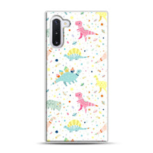 Load image into Gallery viewer, Dinosaur Pattern 1 Samsung Galaxy Note 10 Case, White Rubber Case | Webluence.com