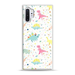 Dinosaur Pattern 1 Samsung Galaxy Note 10 Plus Case, White Rubber Case | Webluence.com