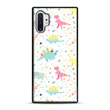 Load image into Gallery viewer, Dinosaur Pattern 1 Samsung Galaxy Note 10 Plus Case, Black Rubber Case | Webluence.com