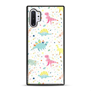 Dinosaur Pattern 1 Samsung Galaxy Note 10 Plus Case, Black Rubber Case | Webluence.com