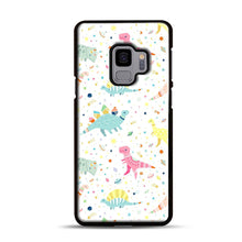 Load image into Gallery viewer, Dinosaur Pattern 1 Samsung Galaxy S9 Case, Black Rubber Case | Webluence.com