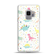 Load image into Gallery viewer, Dinosaur Pattern 1 Samsung Galaxy S9 Case, White Rubber Case | Webluence.com