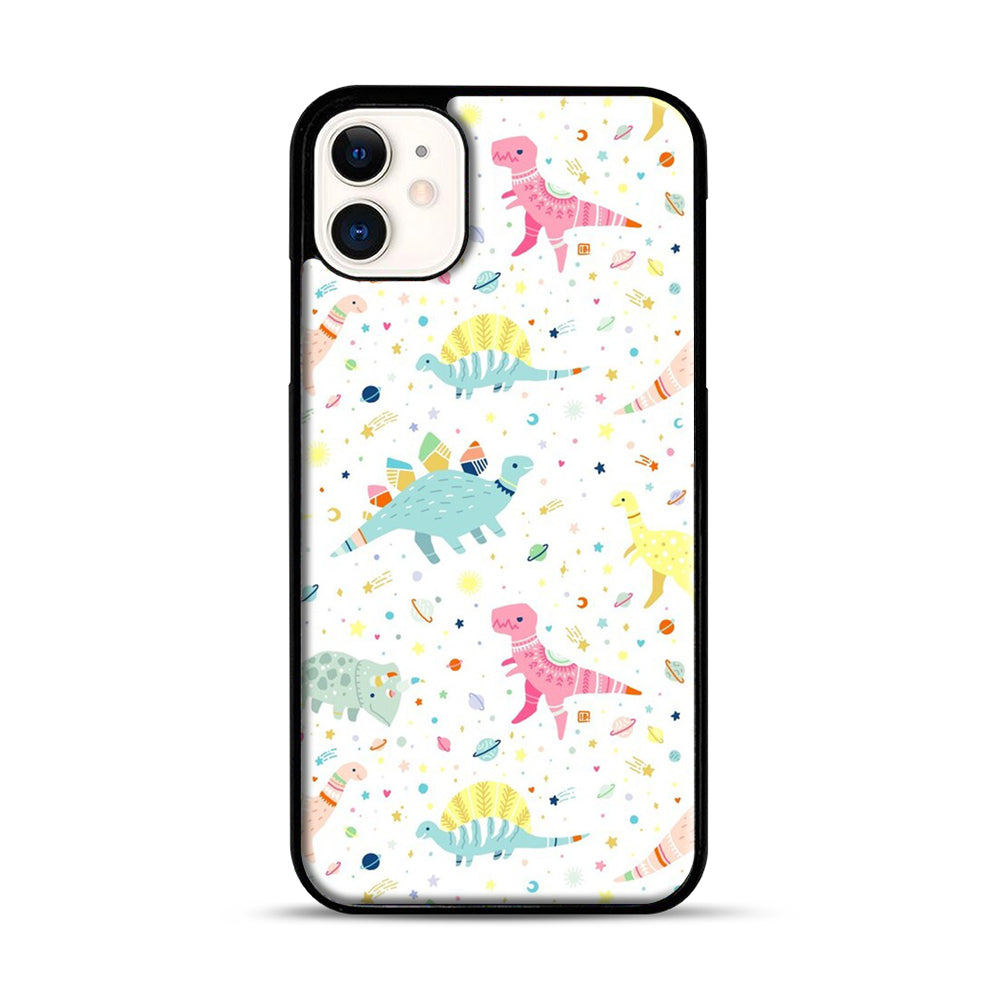 Dinosaur Pattern 1 iPhone 11 Case.jpg, Black Plastic Case | Webluence.com