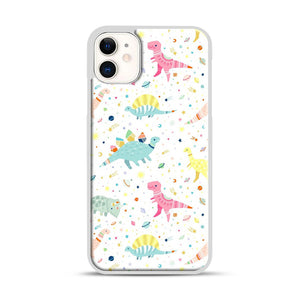 Dinosaur Pattern 1 iPhone 11 Case.jpg, White Plastic Case | Webluence.com