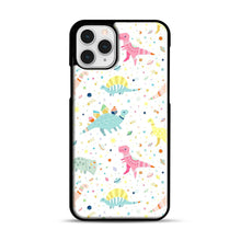 Load image into Gallery viewer, Dinosaur Pattern 1 iPhone 11 Pro Case, Black Plastic Case | Webluence.com