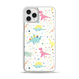 Dinosaur Pattern 1 iPhone 11 Pro Case, White Plastic Case | Webluence.com