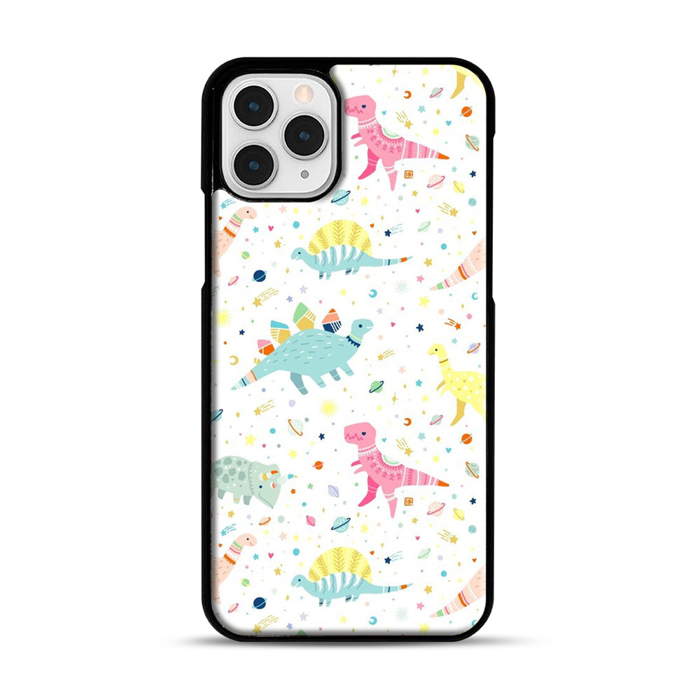 Dinosaur Pattern 1 iPhone 11 Pro Case, Black Plastic Case | Webluence.com