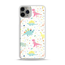 Load image into Gallery viewer, Dinosaur Pattern 1 iPhone 11 Pro Max Case.jpg, White Plastic Case | Webluence.com