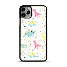 Load image into Gallery viewer, Dinosaur Pattern 1 iPhone 11 Pro Max Case.jpg, Black Plastic Case | Webluence.com