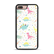 Load image into Gallery viewer, Dinosaur Pattern 1 iPhone 7 Plus/8 Plus Case, Black Plastic Case | Webluence.com