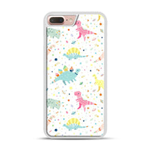 Load image into Gallery viewer, Dinosaur Pattern 1 iPhone 7 Plus/8 Plus Case, White Plastic Case | Webluence.com
