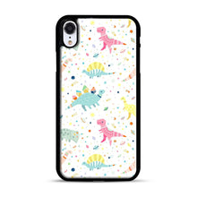 Load image into Gallery viewer, Dinosaur Pattern 1 iPhone XR Case, Black Plastic Case | Webluence.com