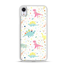 Load image into Gallery viewer, Dinosaur Pattern 1 iPhone XR Case, White Rubber Case | Webluence.com