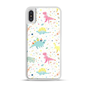 Dinosaur Pattern 1 iPhone X/XS Case, White Rubber Case | Webluence.com