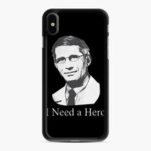 Load image into Gallery viewer, Dr Anthony Fauci Hope I Need A Hero iPhone XS Max Case, Black Rubber Case | Webluence.com