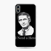 Load image into Gallery viewer, Dr Anthony Fauci Hope I Need A Hero iPhone XS Max Case, White Plastic Case | Webluence.com