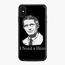 Load image into Gallery viewer, Dr Anthony Fauci Hope I Need A Hero iPhone XS Max Case, Black Plastic Case | Webluence.com
