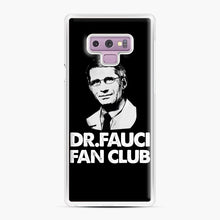 Load image into Gallery viewer, Dr Fauci Fan Club Officia Samsung Galaxy Note 9 Case, White Plastic Case | Webluence.com