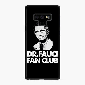Dr Fauci Fan Club Officia Samsung Galaxy Note 9 Case, Black Rubber Case | Webluence.com