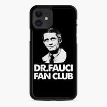 Load image into Gallery viewer, Dr Fauci Fan Club Officia iPhone 11 Case, Black Rubber Case | Webluence.com