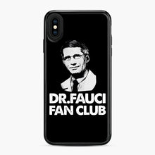 Load image into Gallery viewer, Dr Fauci Fan Club Officia iPhone XS Max Case, Black Plastic Case | Webluence.com