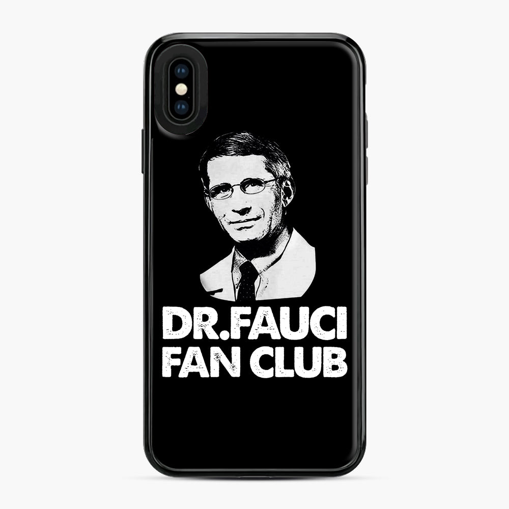 Dr Fauci Fan Club Officia iPhone XS Max Case, Black Plastic Case | Webluence.com