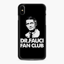 Load image into Gallery viewer, Dr Fauci Fan Club Officia iPhone XS Max Case, Black Rubber Case | Webluence.com