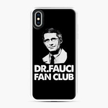 Load image into Gallery viewer, Dr Fauci Fan Club Officia iPhone XS Max Case, White Plastic Case | Webluence.com