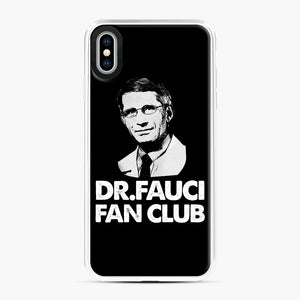 Dr Fauci Fan Club Officia iPhone XS Max Case, White Plastic Case | Webluence.com