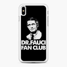 Load image into Gallery viewer, Dr Fauci Fan Club Officia iPhone XS Max Case, White Rubber Case | Webluence.com