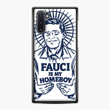 Load image into Gallery viewer, Dr Fauci Is My Homeboy Samsung Galaxy Note 10 Case, Black Plastic Case | Webluence.com