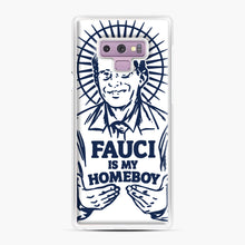 Load image into Gallery viewer, Dr Fauci Is My Homeboy Samsung Galaxy Note 9 Case, White Plastic Case | Webluence.com